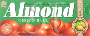 Chocolate almonds from Taiwan | Almond Choco Balls box image