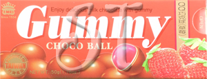 Strawberry Gummi Choco Ball box image